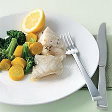 Riba sa povrćem na leso